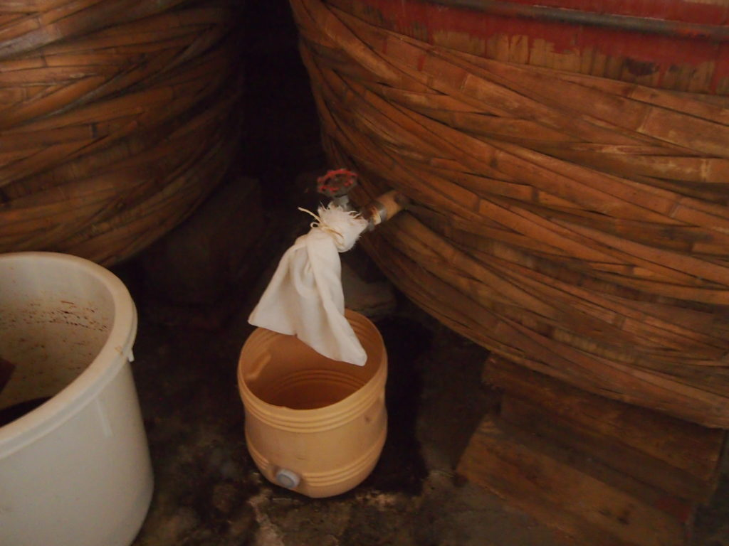たまり醤油の木桶だけにある蛇口