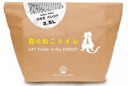 天然の国産間伐材を使った 猫にも環境にも優しい 『森のねこトイレ』
