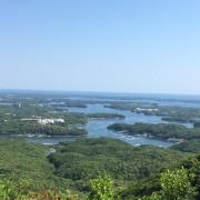 伊勢志摩リアス式海岸の眺望
